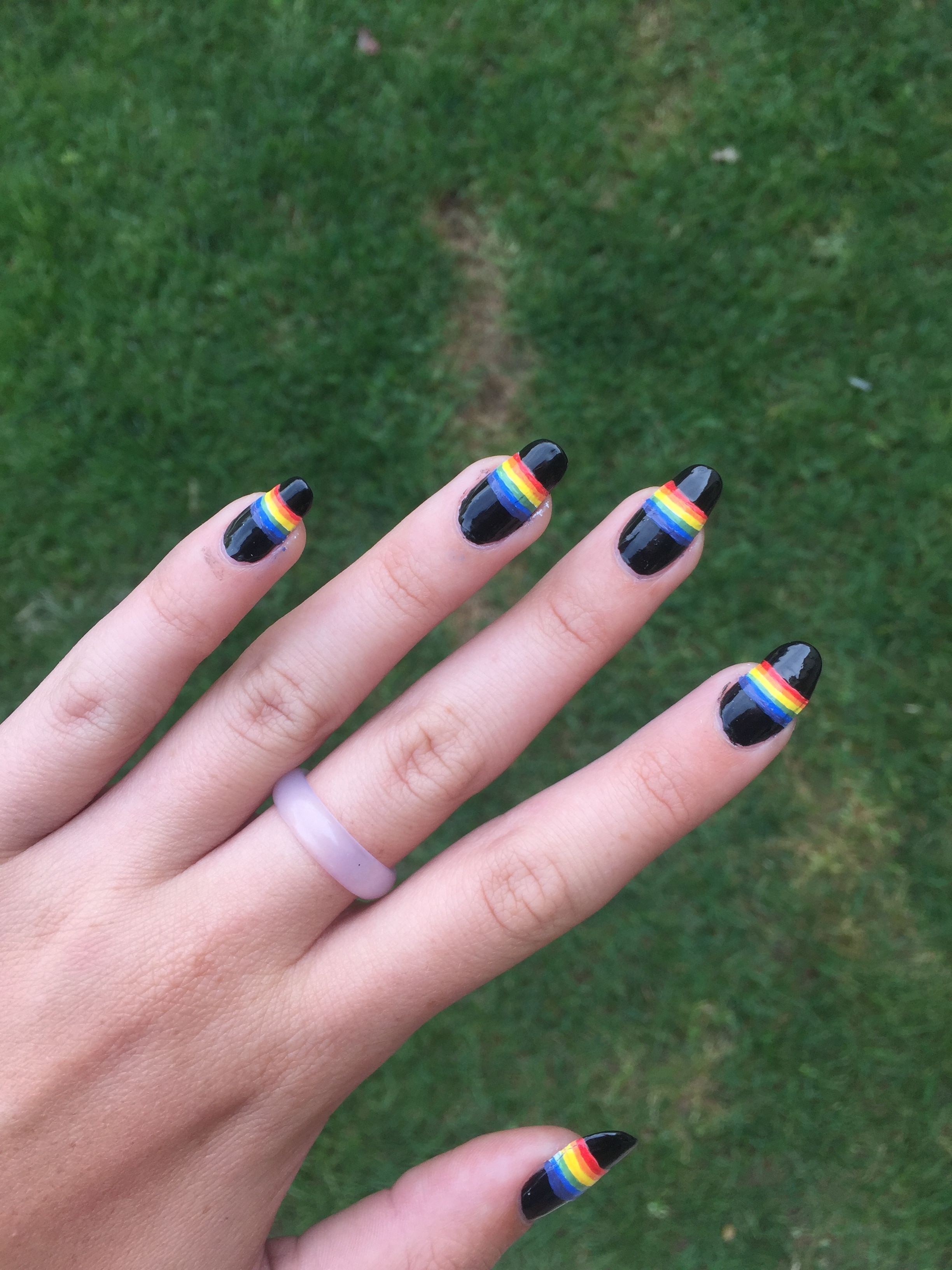 rainbow nails. gives some polaroid or led zeppelin vibes | nail art ...