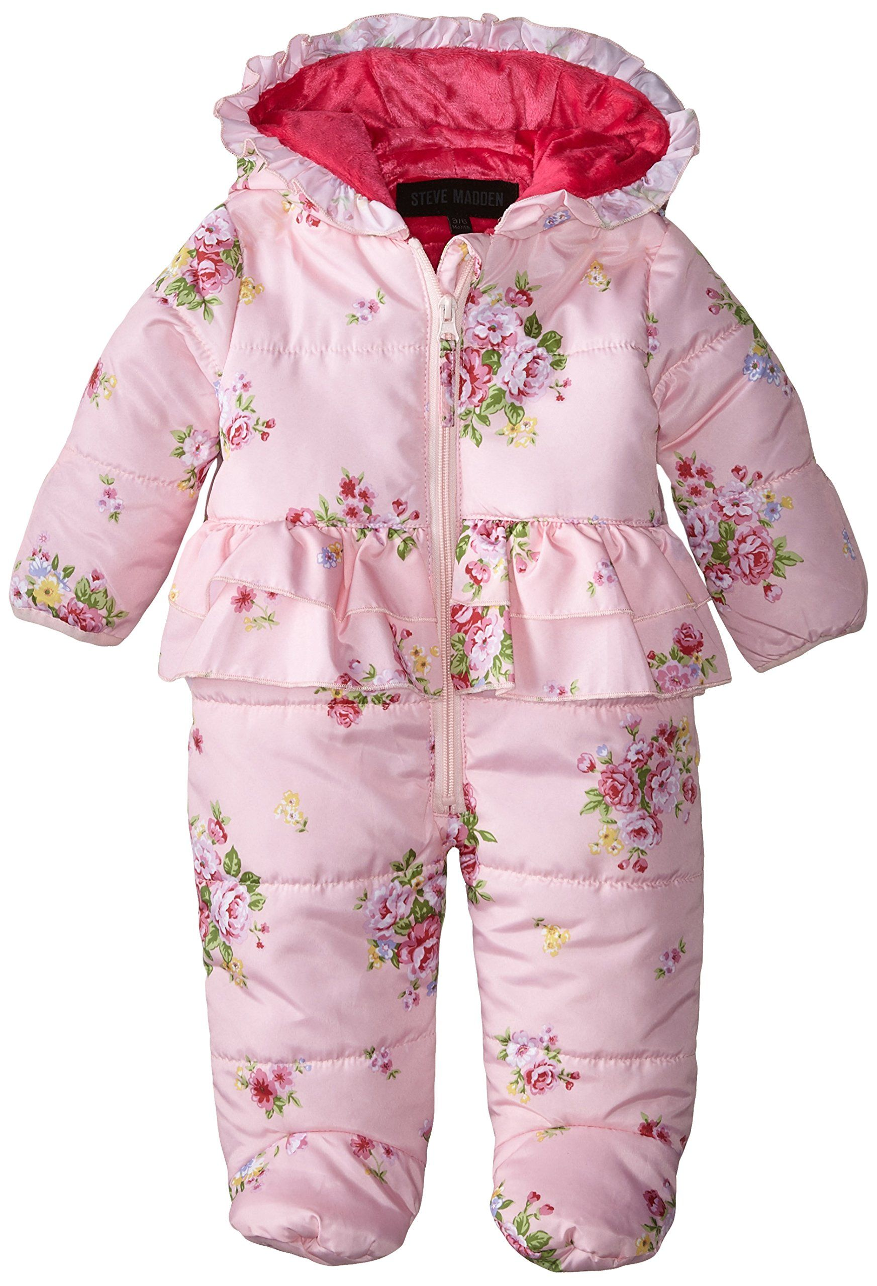 14349baf0 Amazon.com  Steve Madden Baby-Girls Newborn Floral Printed Pongee ...