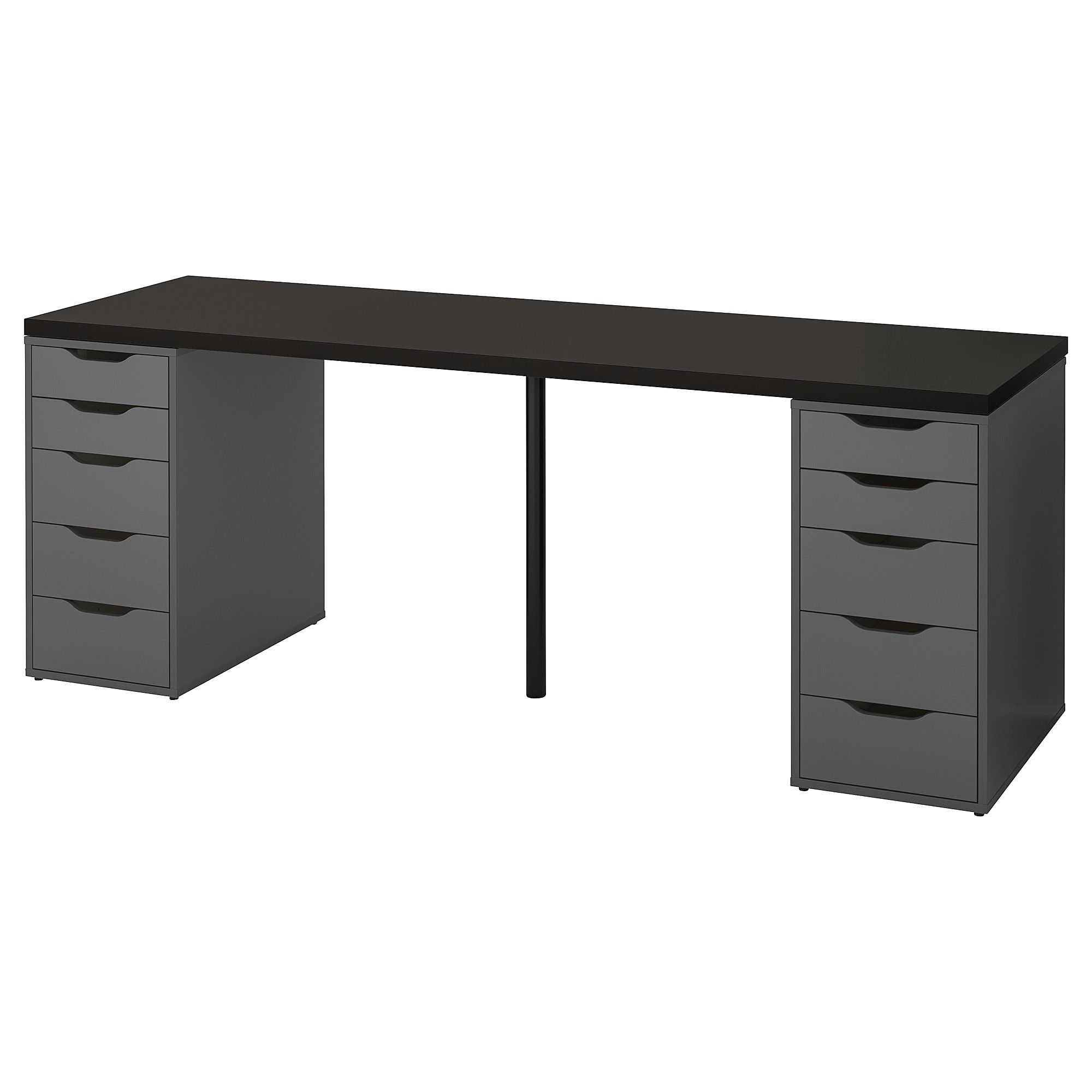Linnmon Alex Table Black Brown Gray 78 3 4x23 5 8 Ikea Ikea Black And Brown Countertop Desk