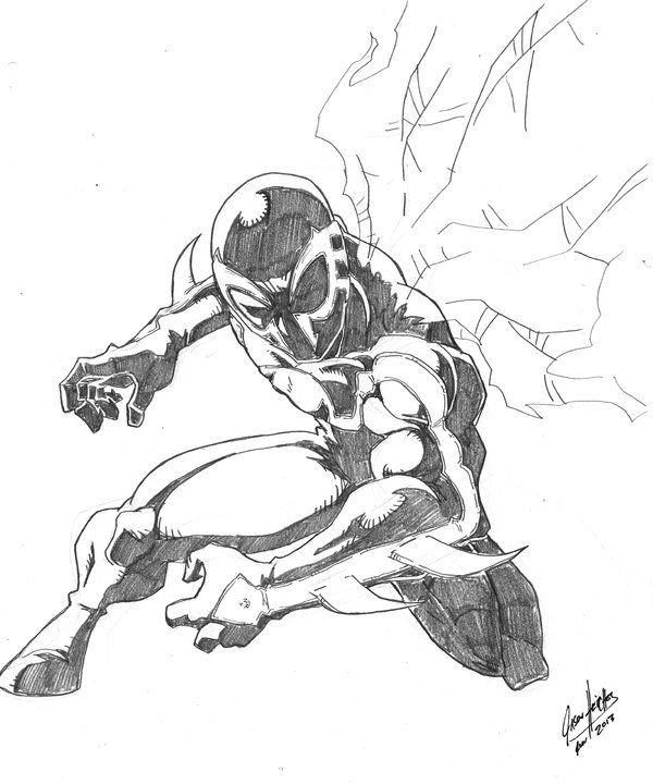 Deviantart More Like Spider Man 2099 Jumping By Chahlesxavier Artist Artists Like Spiderman