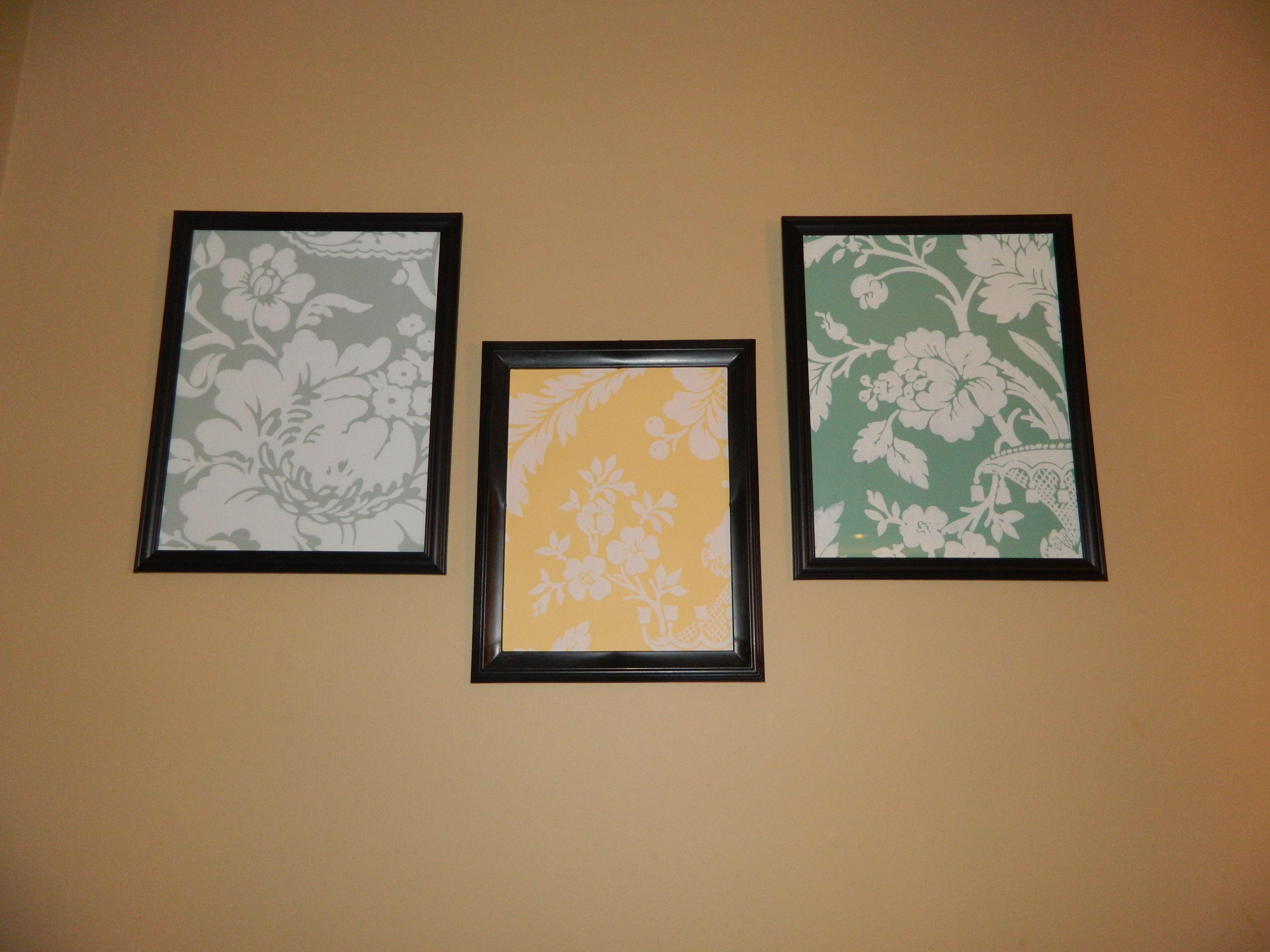 Wallpaper Samples & Dollar Tree Frames