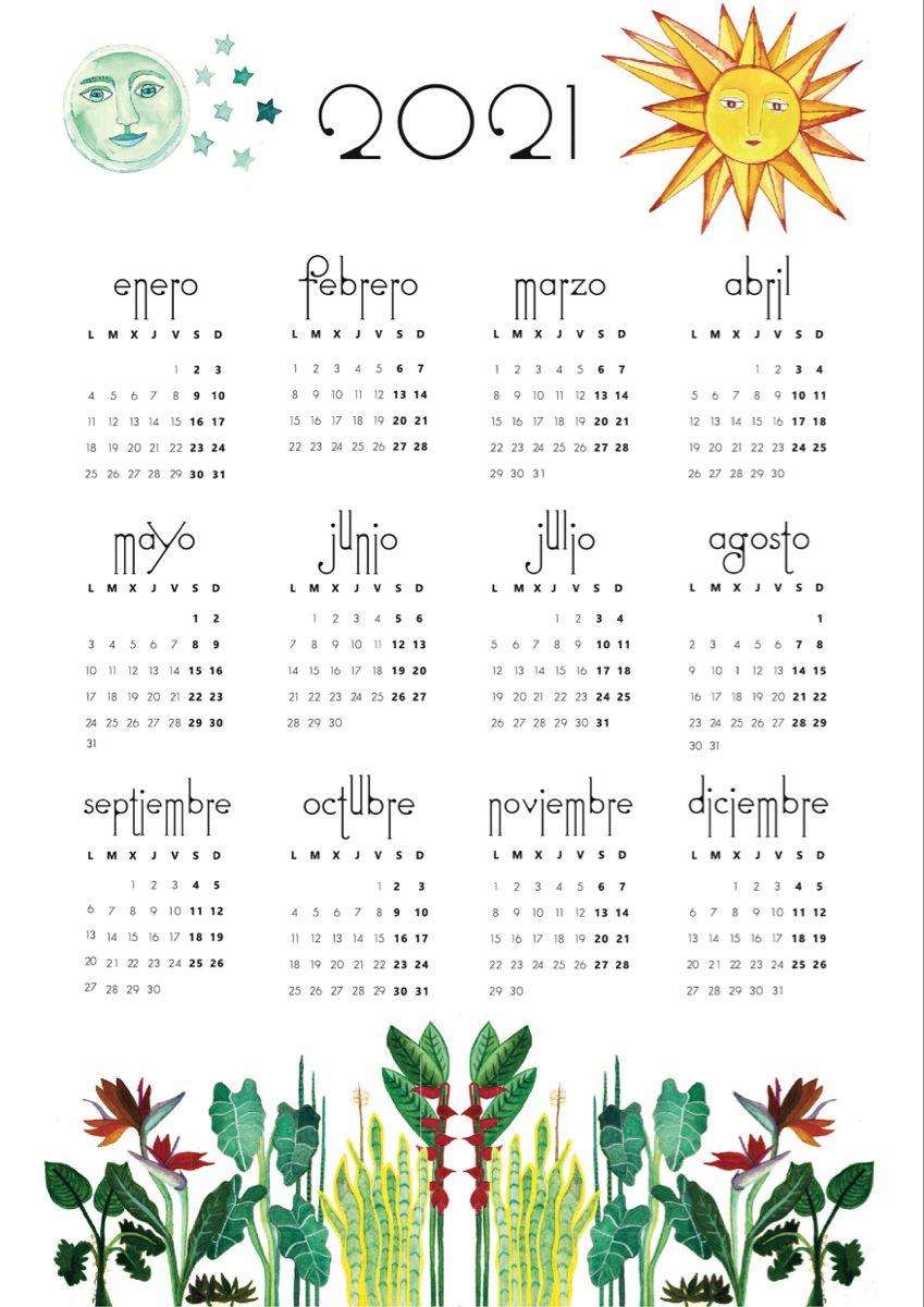 Calendar 2021 Sun and Moon. in 2020 | Tala