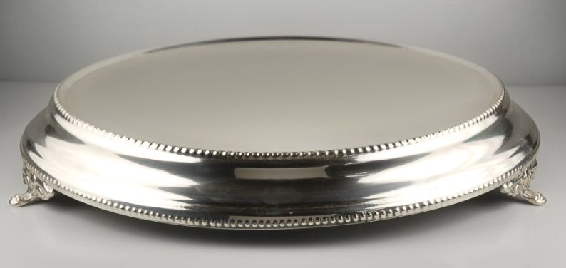 Wedding Cake Stand Silver, Silver Round Cake Plateau