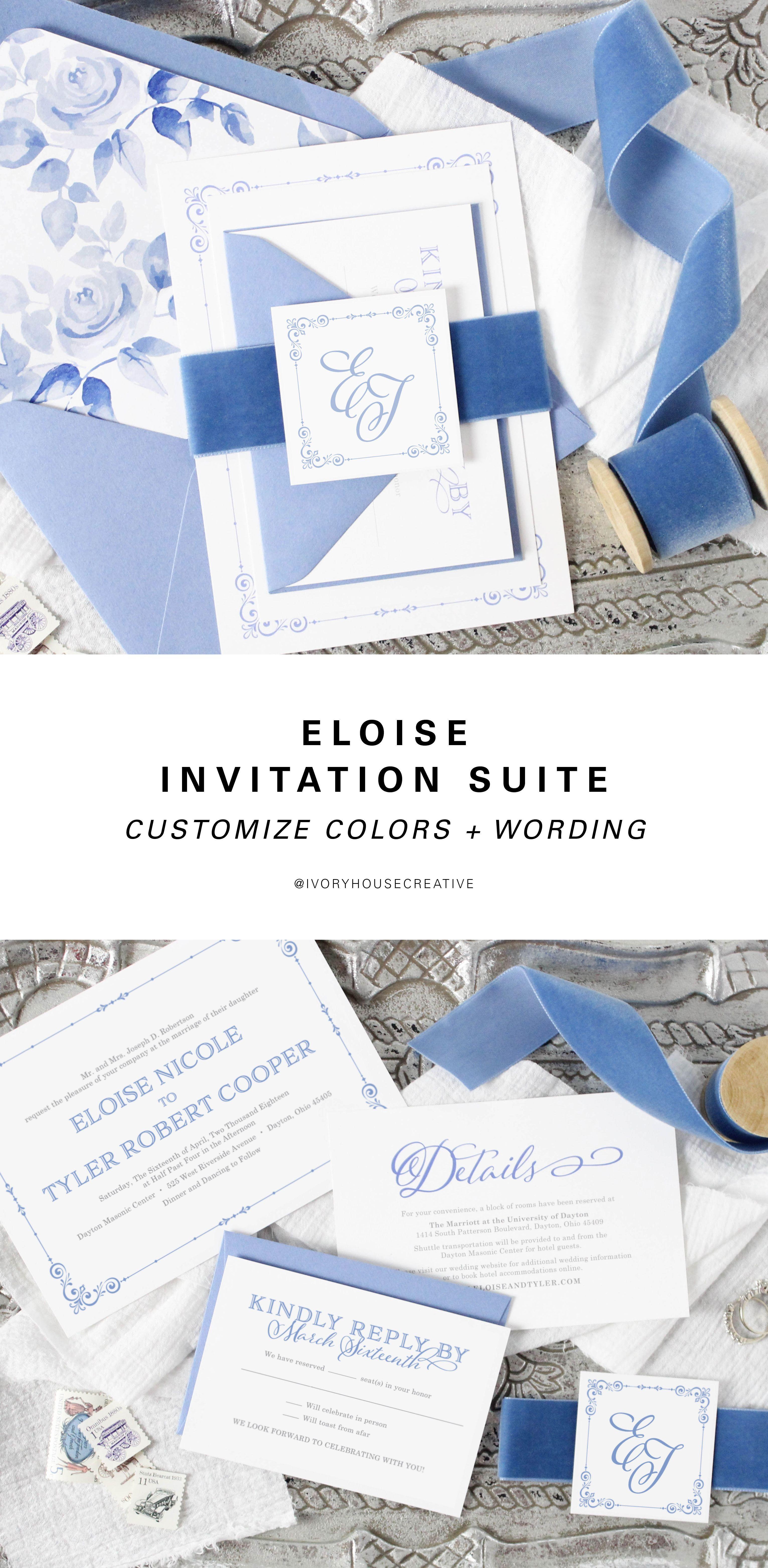 Eloise Wedding Invitation Suite Invitations