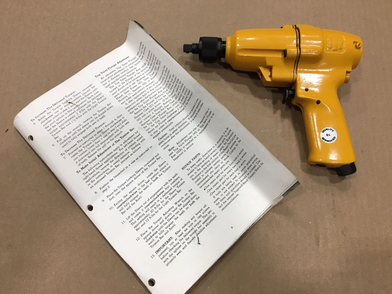 """E Air Tool 1 Pneumatic Impact Wrench 1/2"""" Square Drive"""