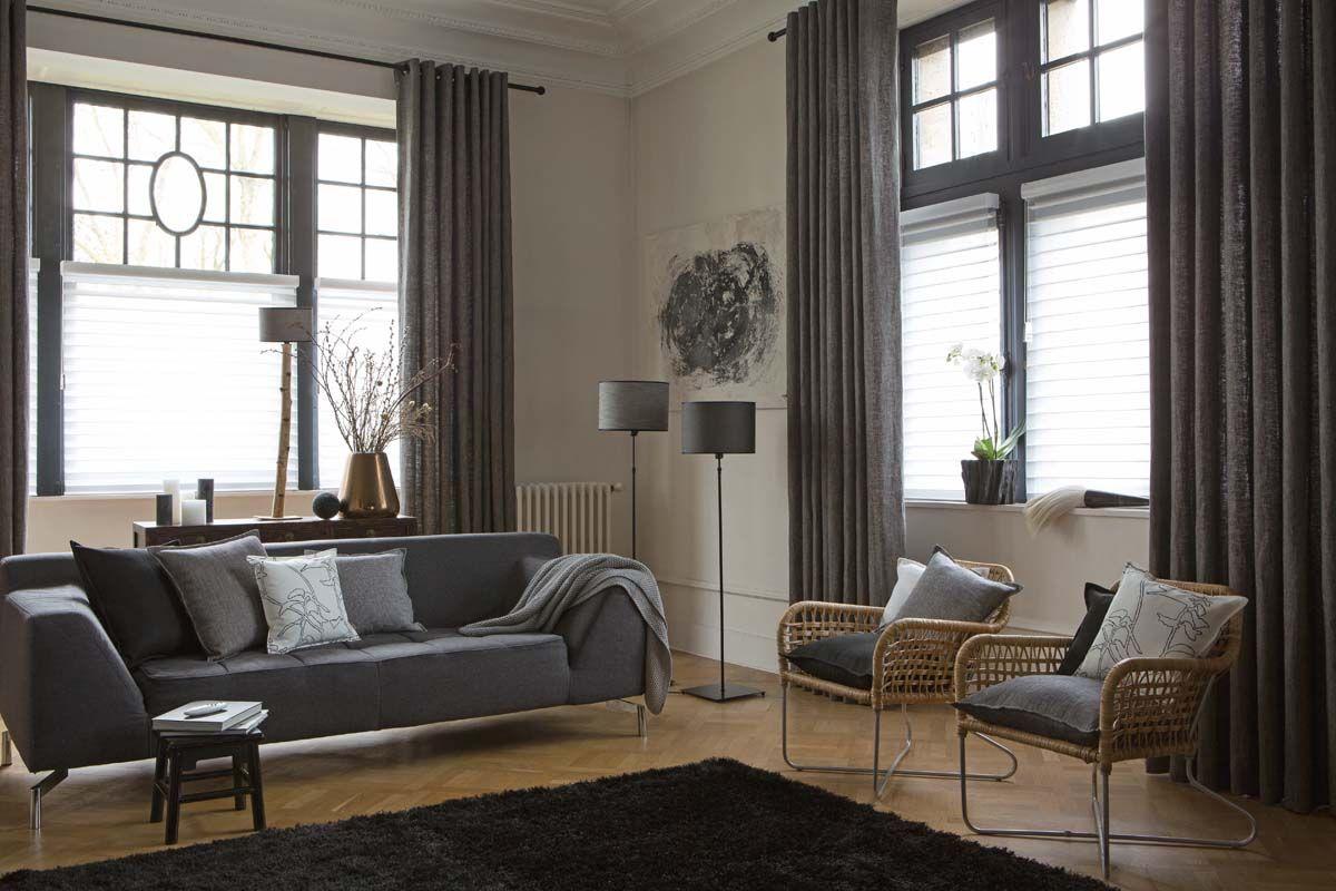 Quand vos fenêtres ne sont pas particulièrement jolies, donnez de la  verticalité à votre pièce avec de beaux rideaux ! Plus d\u0027idées déco avec  des voilages