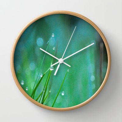 Morning Dew Wall Clock by Lynn Bolt - $30.00
