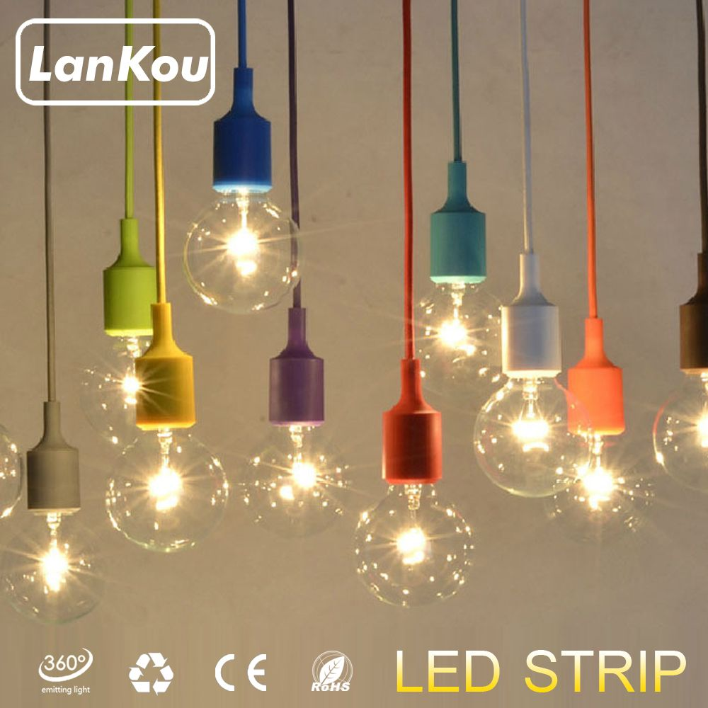 18 colors pendant lights silica gel modern ikea kitchen for Led deckenleuchte modern