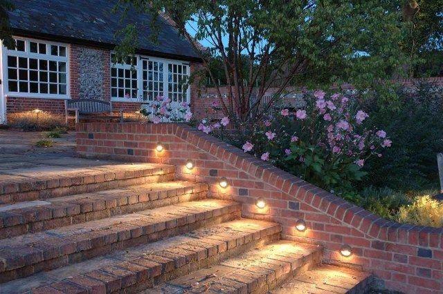 treppenbeleuchtung au en beleuchtung einbauleuchten. Black Bedroom Furniture Sets. Home Design Ideas
