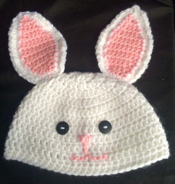 Handmade Crochet Bunny Hat by EverydayCrochet247 on Etsy
