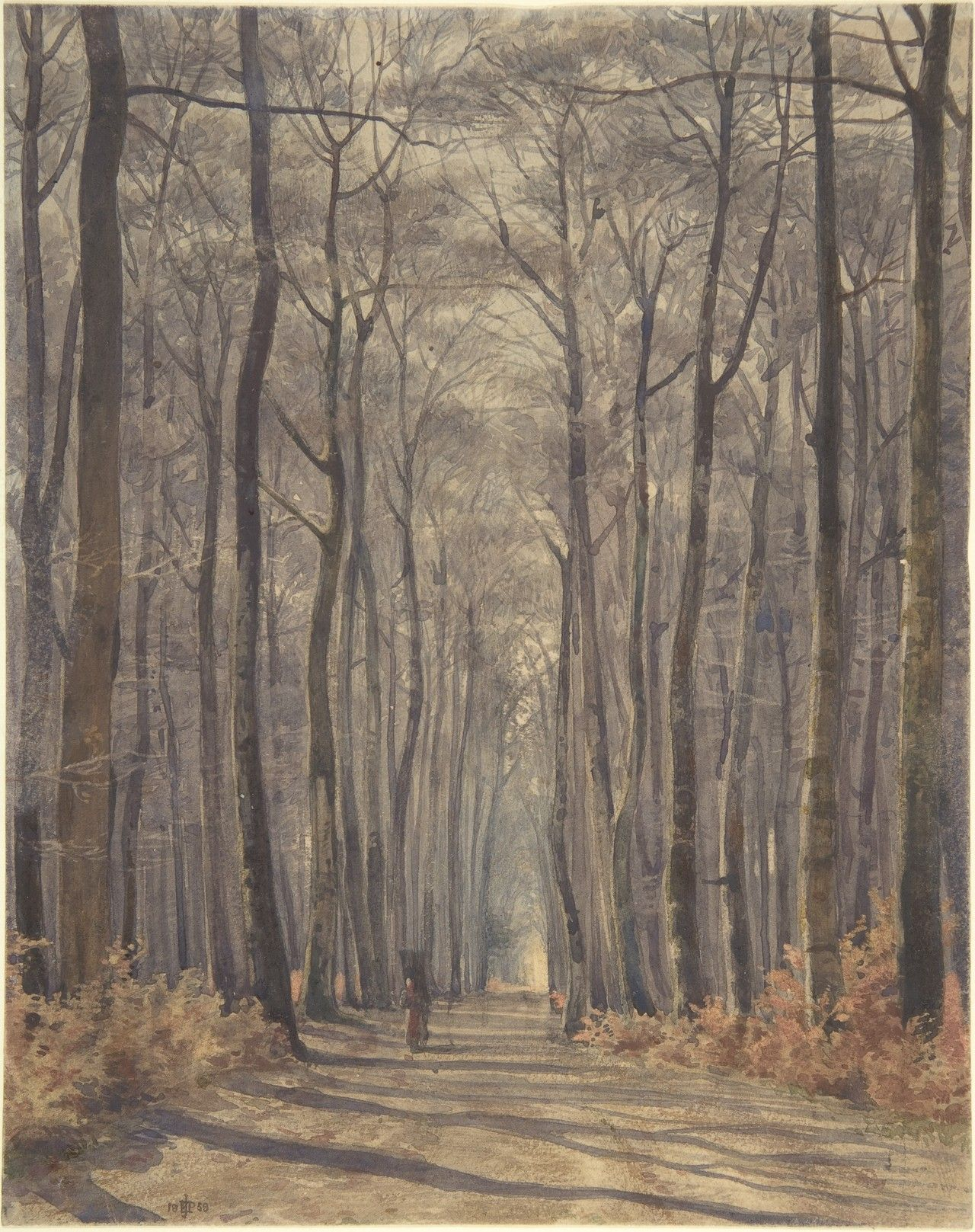 Sir Edward Poynter, An Allee in the Woods, 1859
