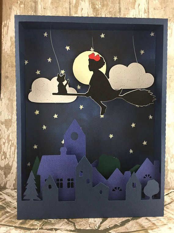 Photo Kiki Et Jiji Voler Dans Le Ciel Lampe Pour Enfants Brille Dans L Obscurite Baby Mobile Diy Totoro