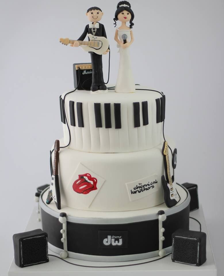 Musician Wedding Cake Music Band Cake Toper Cakes By Bioled