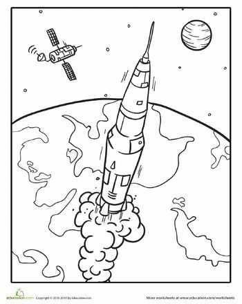 Outer Space Pictures To Color