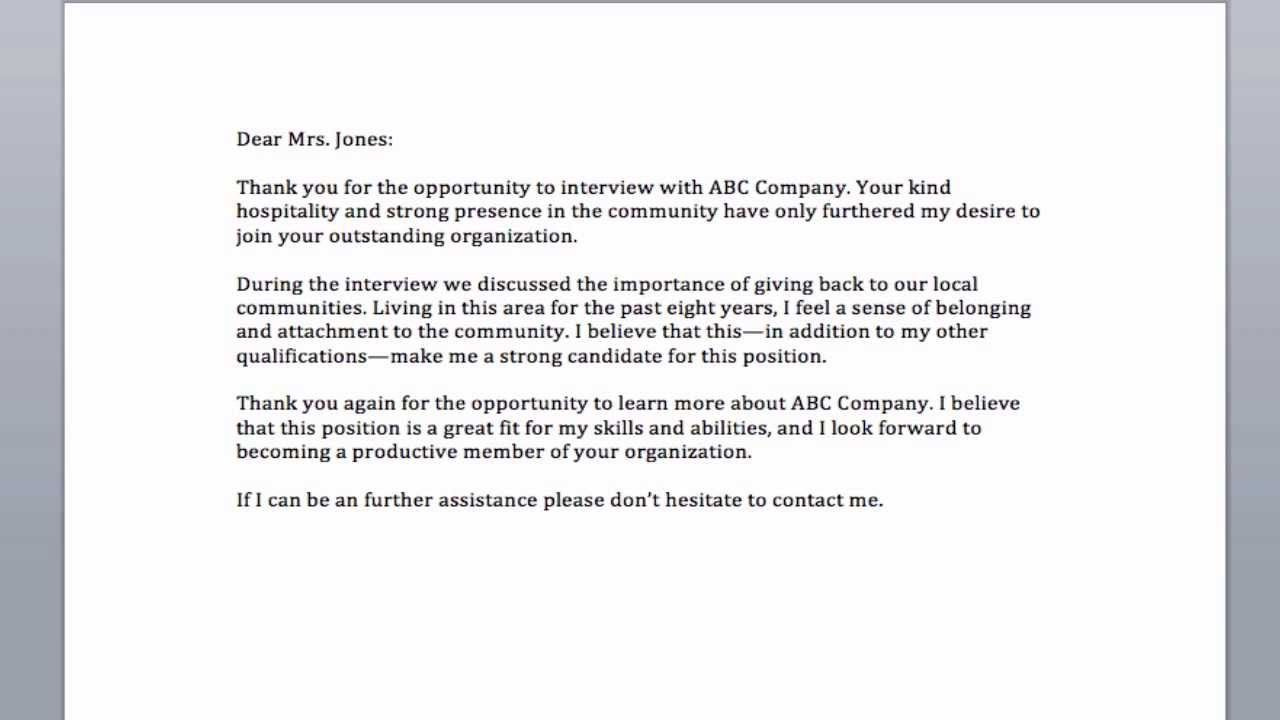 Sample Email After Interview Thank You  Career Building