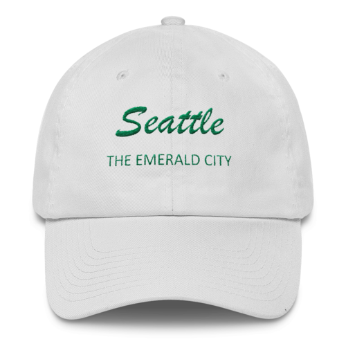 Livelihoodcap White With Green Embroidery Seattle The Emerald