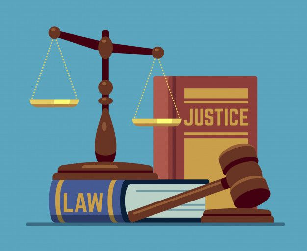 Justice Scales And Wood Judge Gavel Wooden Hammer With Law Code Books Legal And Legislation Authority Vector Concept Premium Vector Justice Scale Law Justice