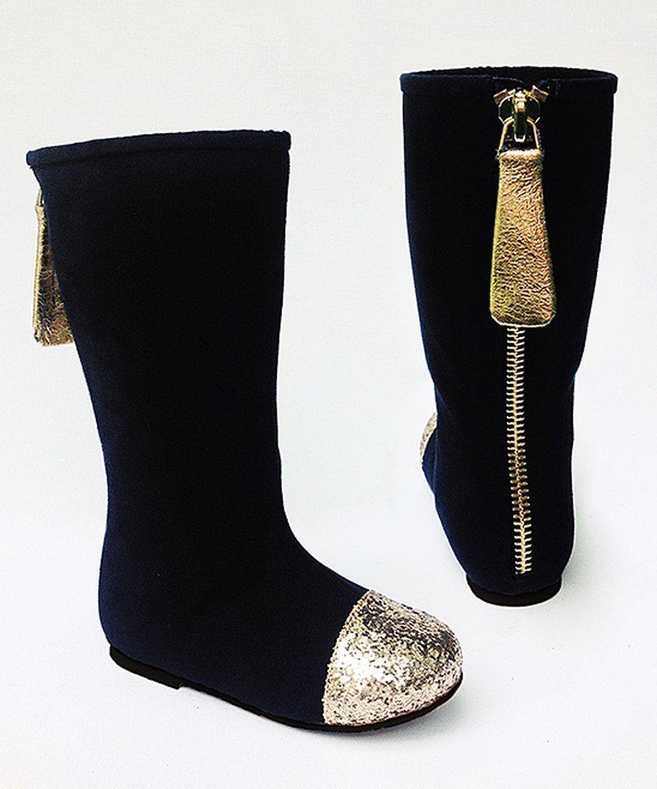 20317ca40537 Joyfolie Black & Gold Chloe Boots & Hair Clip - Kids by Joyfolie  #zulilyfinds