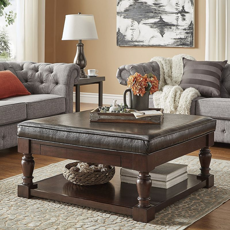 14++ Upholstered coffee table ottoman trends