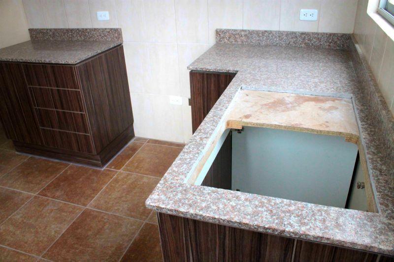 Mesón de granito instalado en mueble de cocina #Alexina2 ...