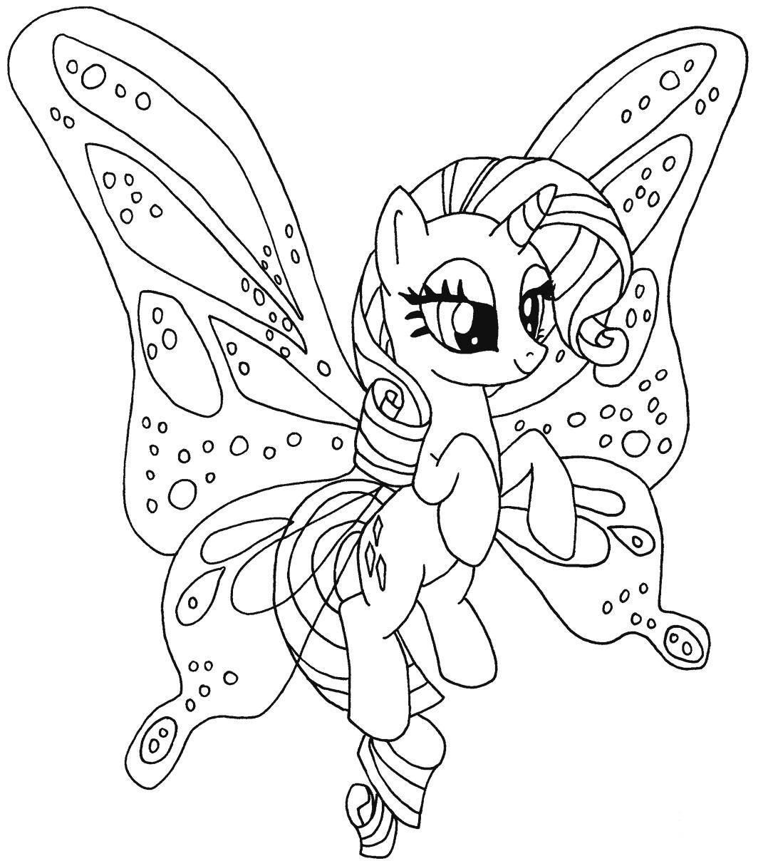 Rarity pony kleurplaat rarity pony kleurplaat my little