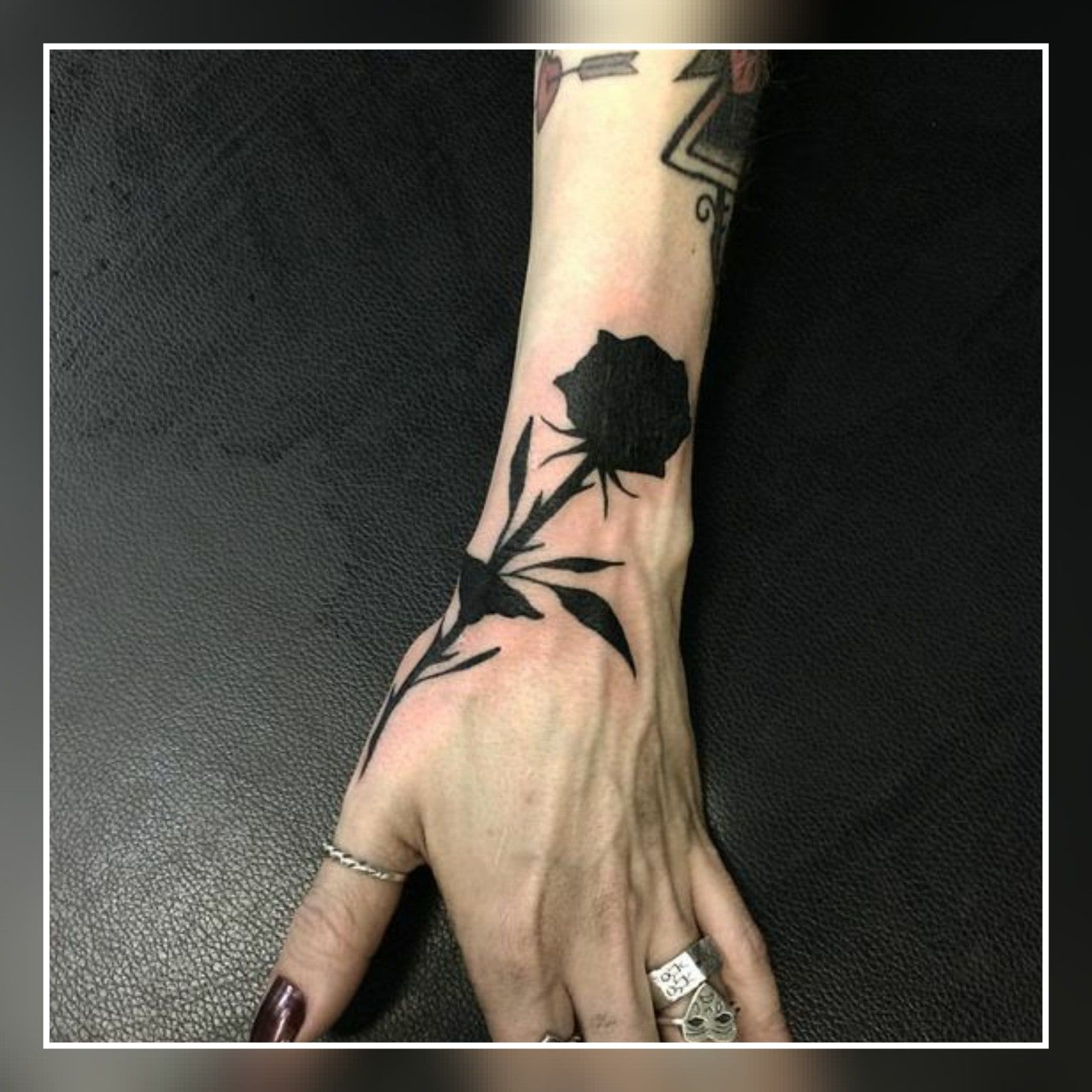 45 Small Black Rose Tattoo Ideas Black Rose Tattoos Rose Tattoos Rose Hand Tattoo