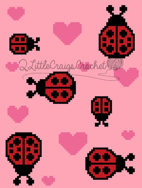 INSTANT DOWNLOAD - C2C Graph - C2C Written - Ladybugs