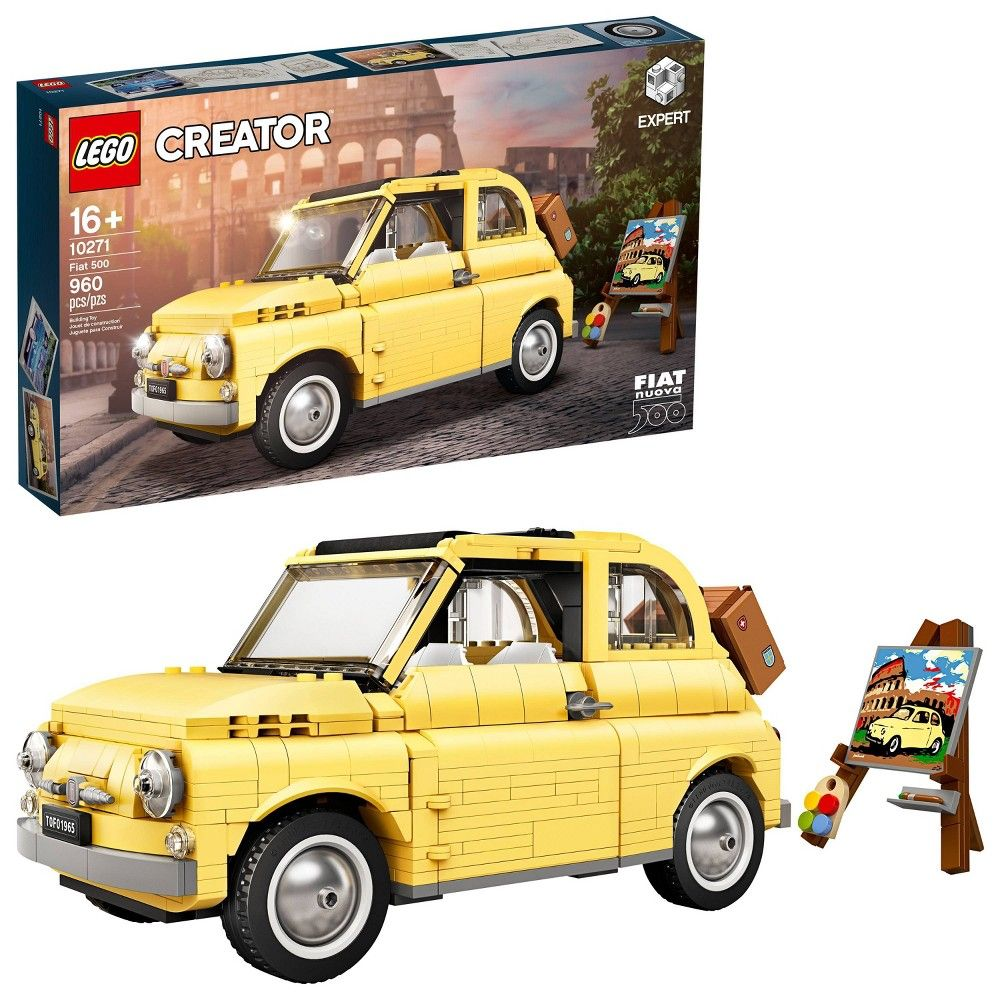 Lego Creator Expert Fiat 500 Toy Car Building Set For Adults Who Love Model Kits 10271 Fiat 500 Toy Car Lego Creator