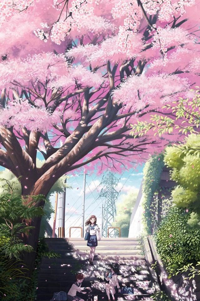 Anime Dreamy Girl Step iPhone 4s Wallpapers