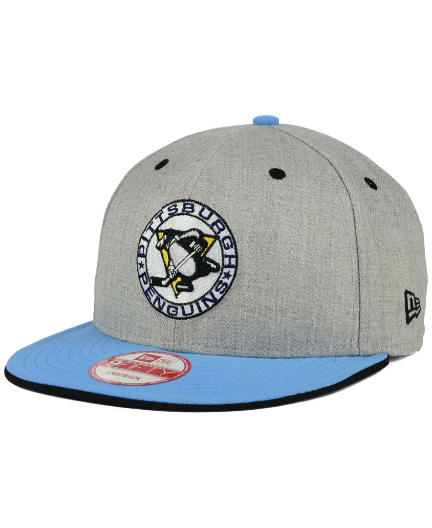 New Era Pittsburgh Penguins Heather 9FIFTY Snapback Cap