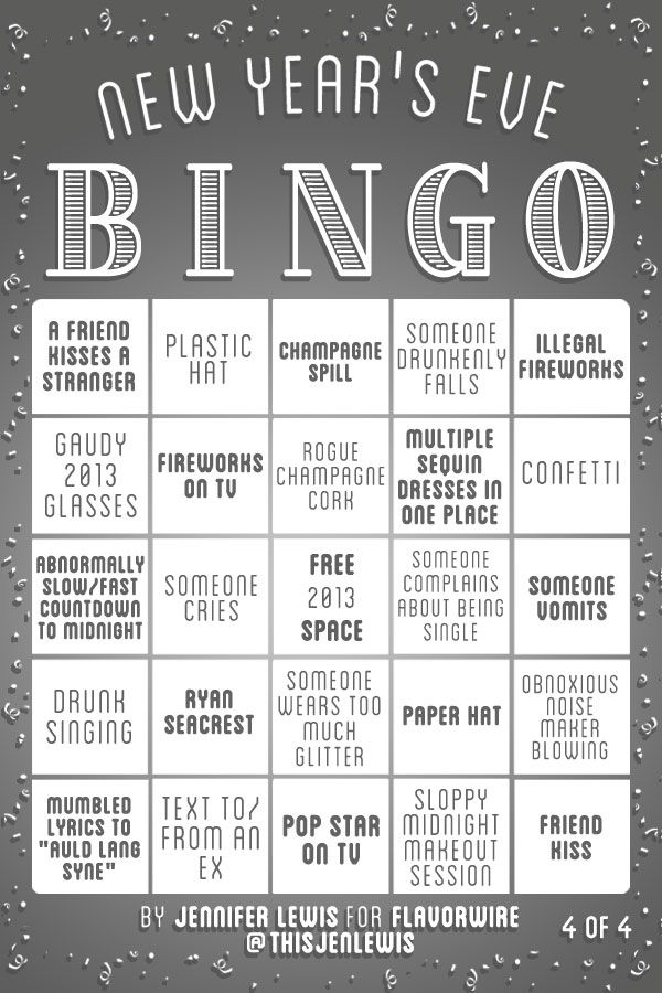 exclusive new year s eve bingo great party ideas pinterest silvester feier und. Black Bedroom Furniture Sets. Home Design Ideas