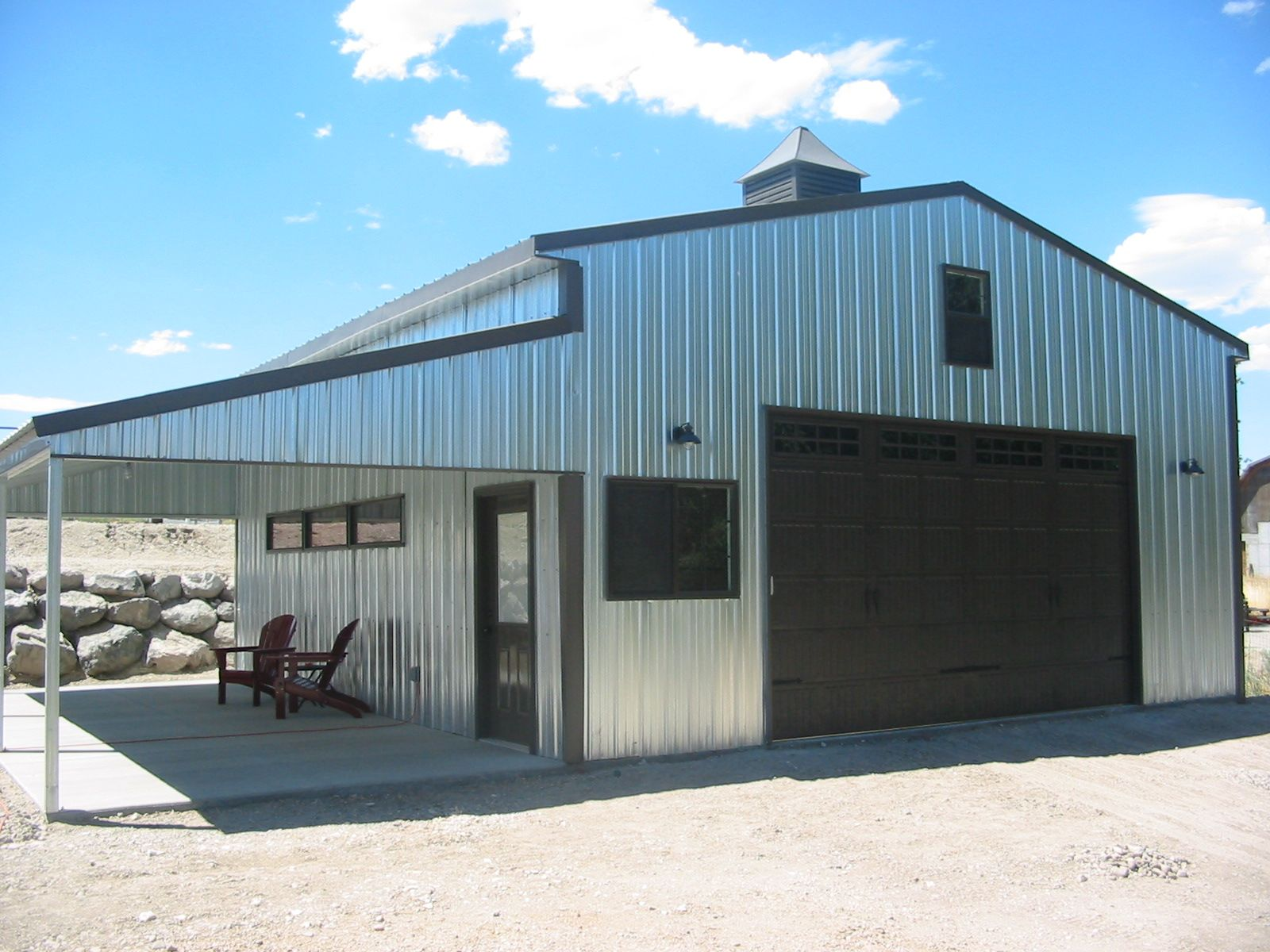 Summit steel building kit by versatube for the home for Carport shop