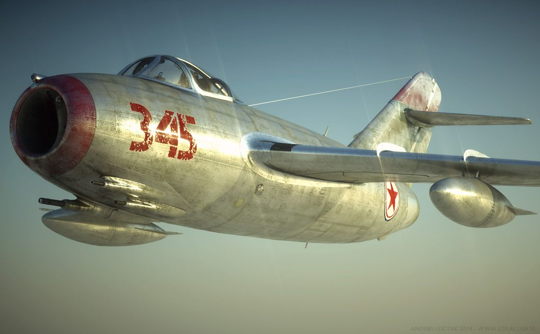 aviationartwork norh korean knight in shining armor mig15 by anders lejczak