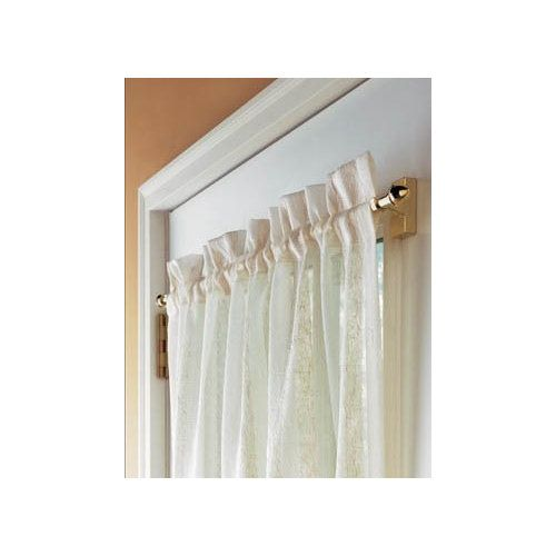 Levolor Kirsch 26inch To 46inch White Single Curtain Rods 13291 Curtain Rods Curtains
