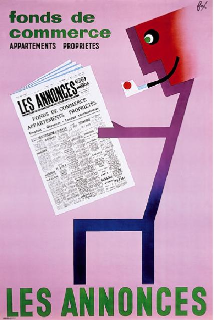 1956, Paris, litho