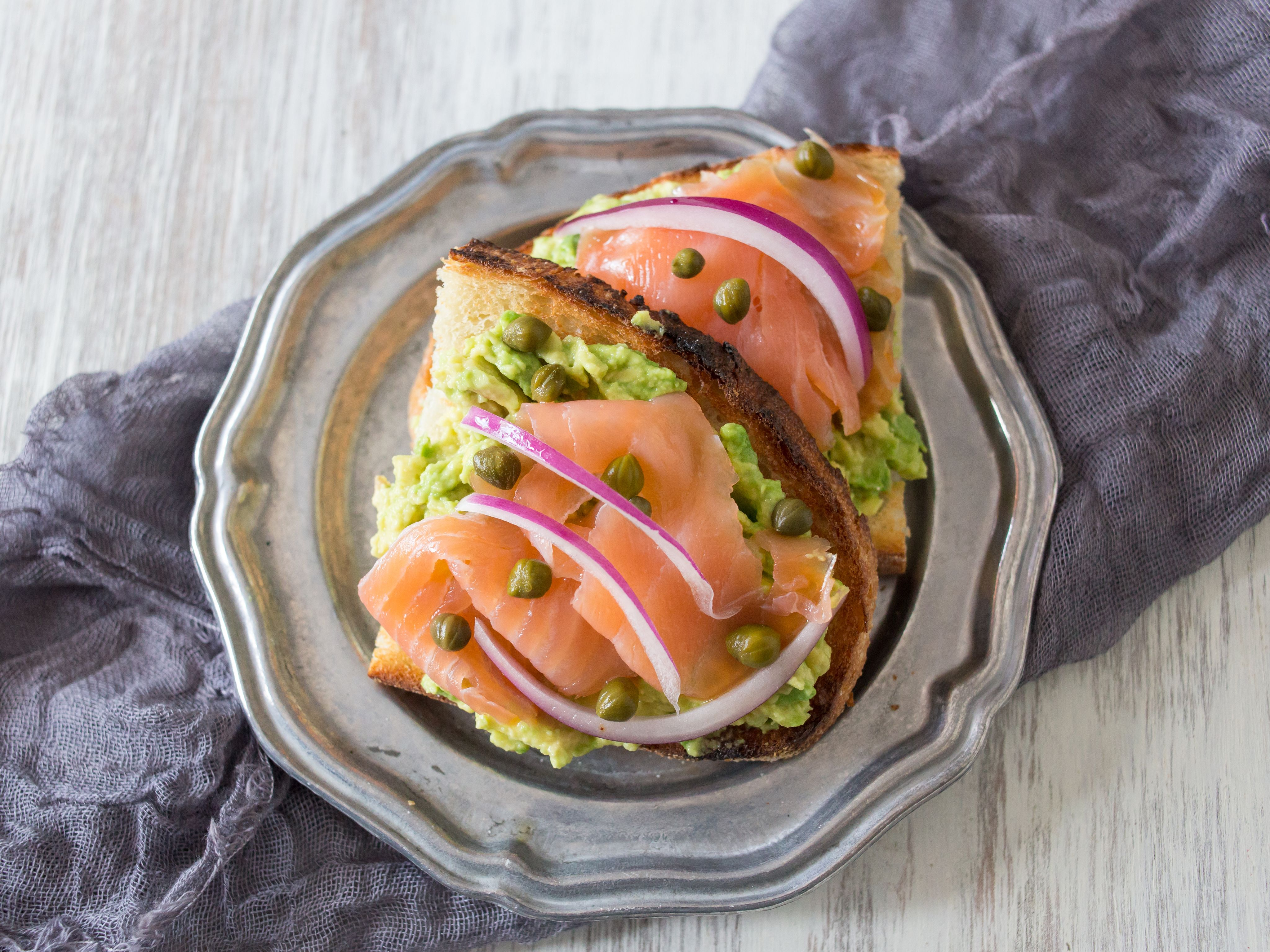 Upgrade your bagel and lox by trying our trendy Avocado Lox Toast.