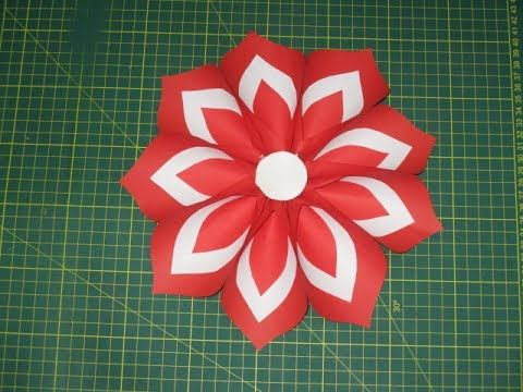 Como Hacer Una Flor Con Los Colores De La Bandera De Perú Por Fiestas Patrias Youtube Flag Crafts Independence Day Decoration Crafts