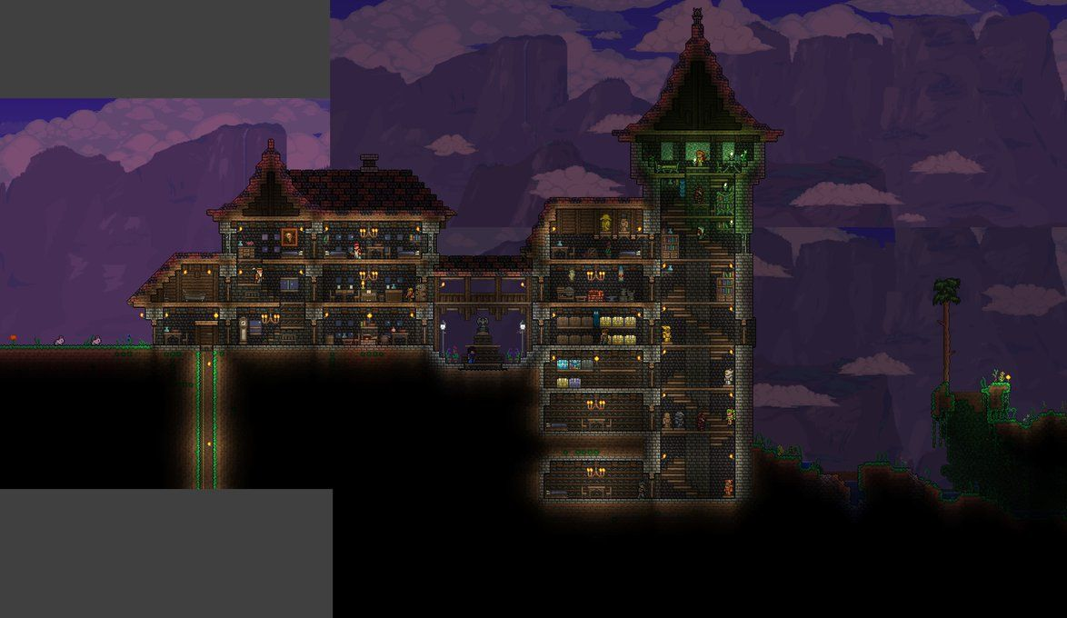 Terraria castle tower castle tower any tips terraria - Terraria House Progress 3 By Wolfsoren On Deviantart Terrariatowervideo Games