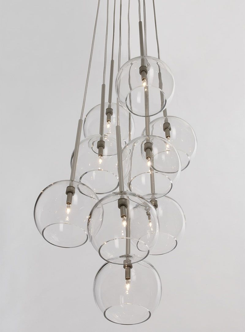 10 Easy Pieces: Modern Glass Globe Chandeliers Remodelista