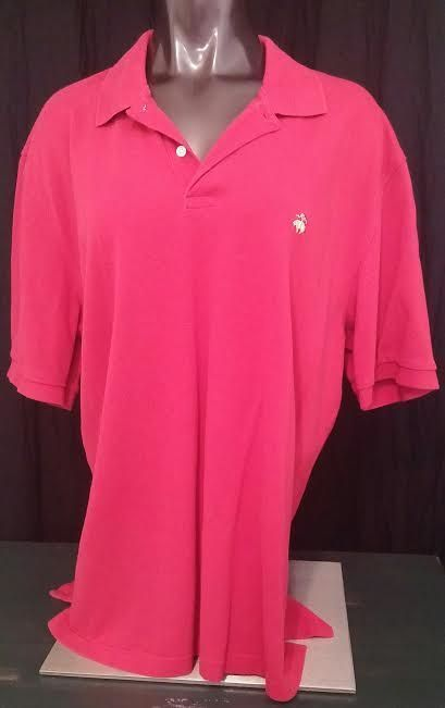 Brooks Brothers Polo Shirt 346 Original Mens Short Sleeve Red Gold