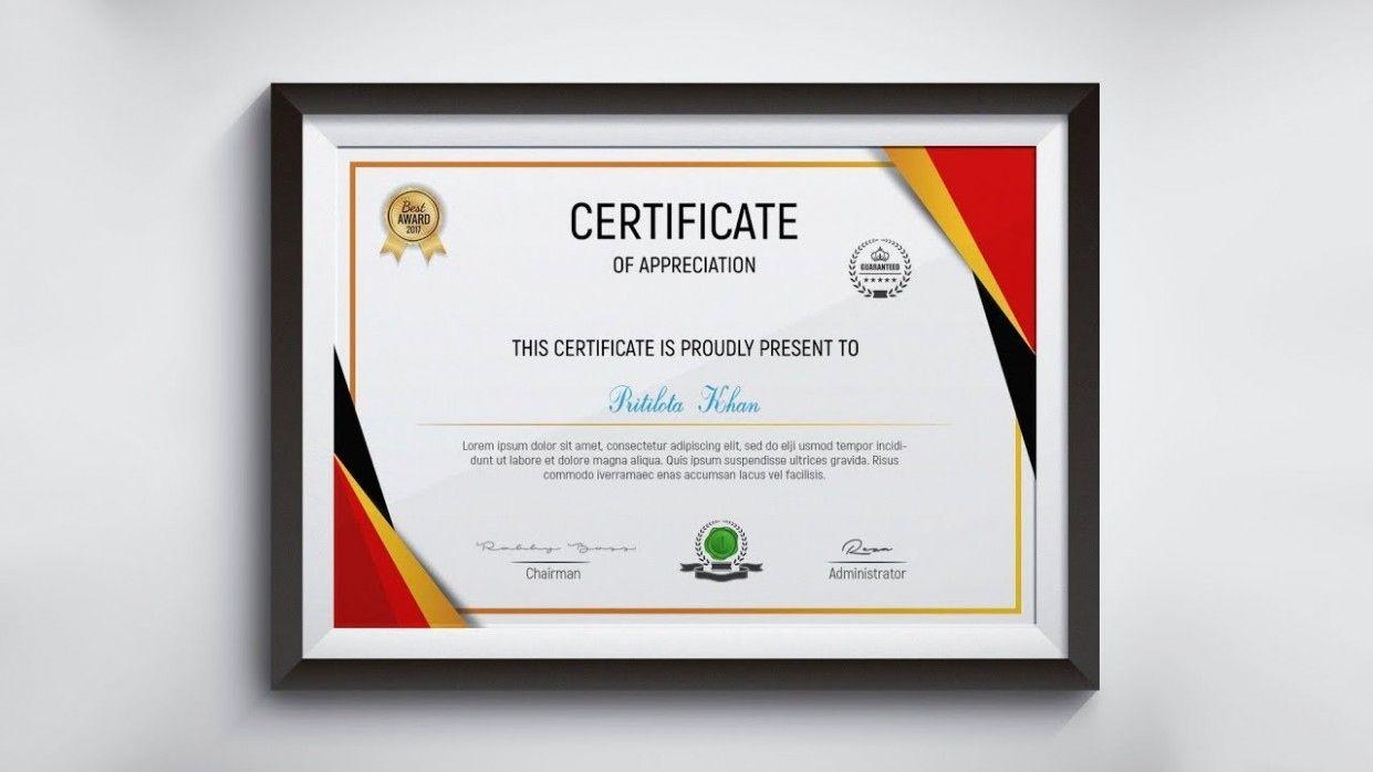 Fascinating Indesign Certificate Template In 2021 Certificate Design Certificate Design Template Photoshop Design How to design a certificate