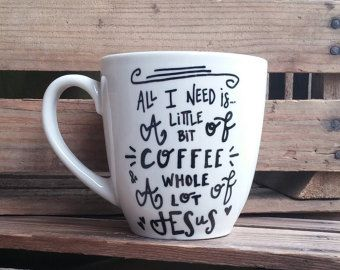 Items Similar To Coffee And Sign With Antique Br Cup Hooks Little Bit Of A Whole Lot On Etsy