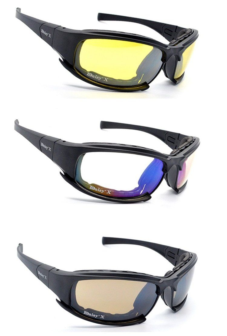 cb1686fcdd185 Tactical X7 Glasses Military Goggles Army Sunglasses With 4 Lens Original  Box Men Shooting Eyewear