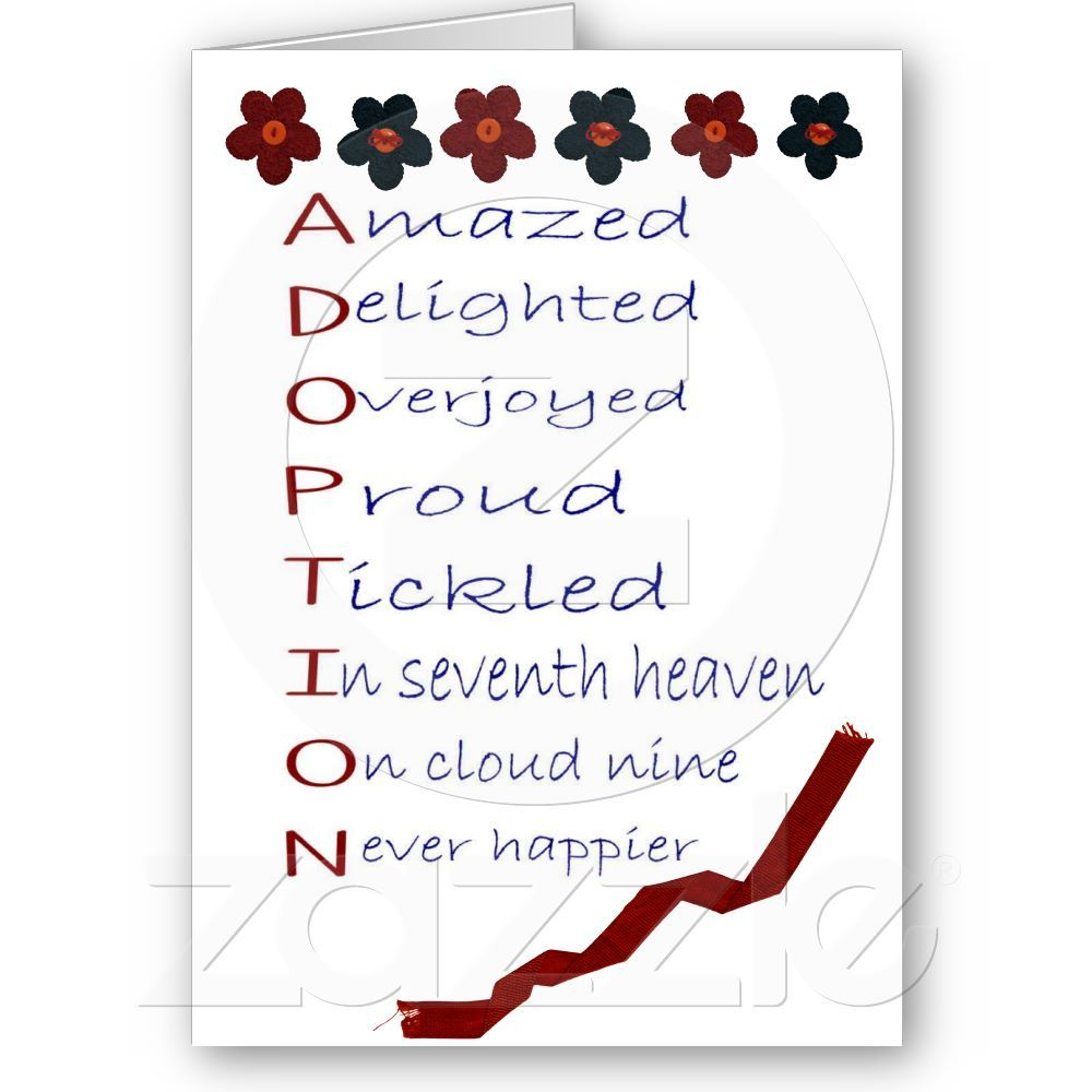 Handmade personalised Adoption any family size Forever family Card