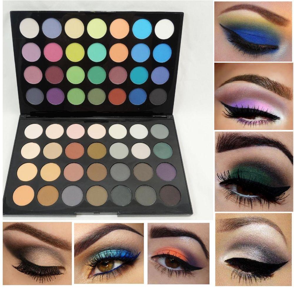 NEW 56 Color Eye Shadow Makeup Cosmetic MATTE Eyeshadow Palette Set #Kleancolor