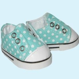 Teal Blue Sequin Sneakers 18 in Doll Clothes Fits American Girl