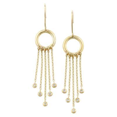 Bespoke Raindrop Yellow Gold Fringe Diamond Drop Earrings Http Londonroadjewellery