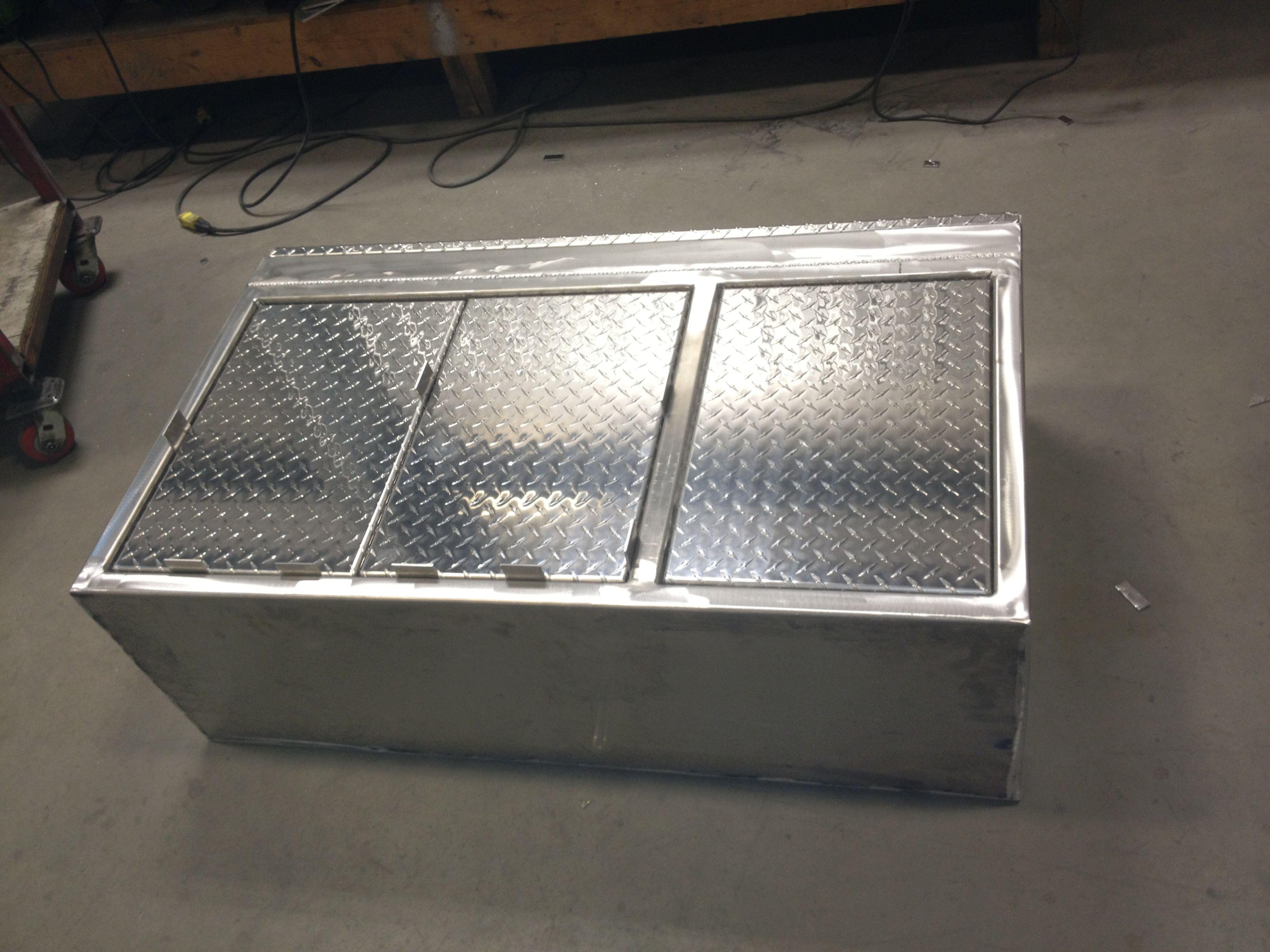 Aluminum Checker Plate Cabinet