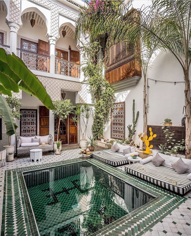 Riad yasmine marrakech 2 islam 39 art s pinterest for Riad marrakech piscine chauffee