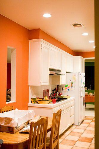 orange kitchen in 2020 orange kitchen walls blue on interior wall paint color ideas id=22891